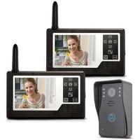 MOUNTAINONE 3.5 TFT Color Display 2 Monitor Wireless Video Intercom Doorbell Door Phone Intercom System