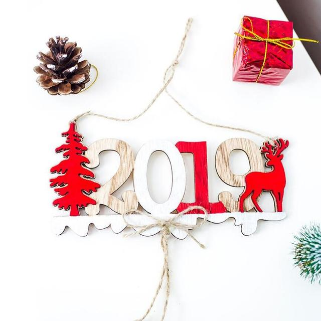 Christmas Tree Decorations For 2019: 2019 Christmas New Year Door Decoration Hanging Pendant