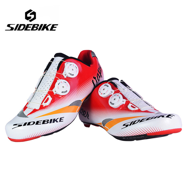 SIDEBIKE New Professional Cycling Shoes Road Bike Bicycle Shoes Ultralight Carbon Fiber Bike Shoes Sapatos de ciclismo
