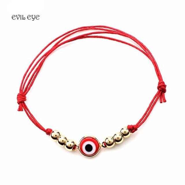 Evil Eye Fashion Bracelets Bangle Ba Female Red Black Blue Handmade Double Rope