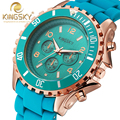 Famosa marca kingsky analolg relógios moda quartz relógio de pulso vestido de alta qualidade grande para as mulheres montre femme