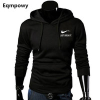 2017 Autumn New Arrival High JUST BREAK IT Printed Sportswear Men Sweatshirt Hip Hop Male Hooded