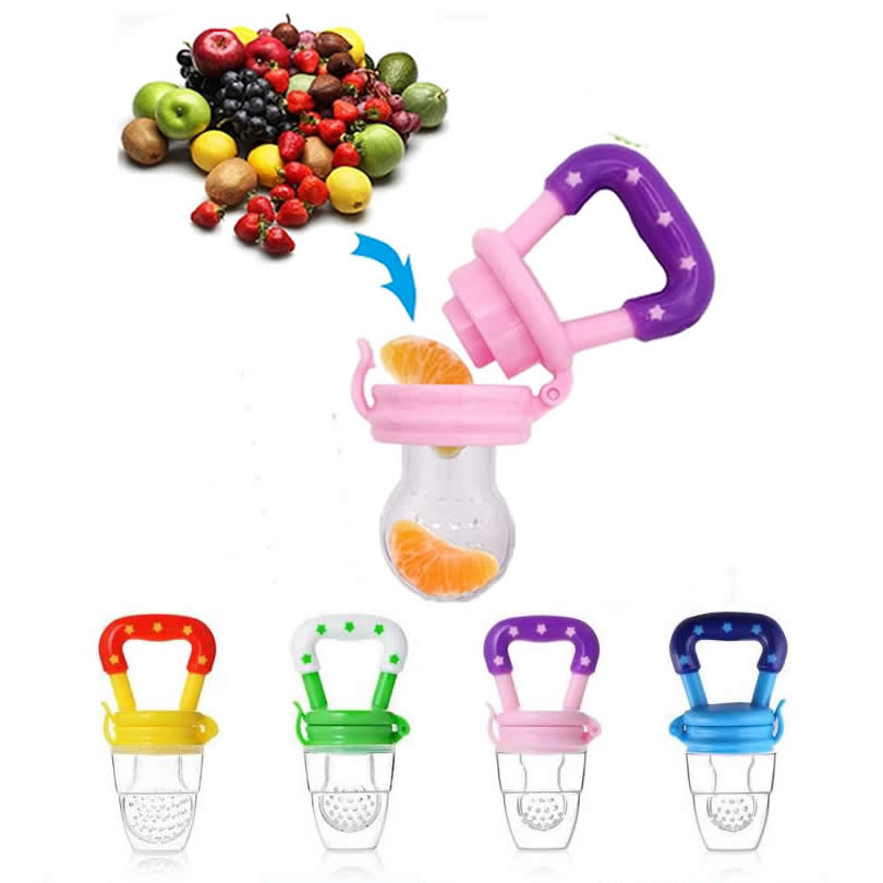 Infant Food Nipple Feeder Silicone Pacifier Fruits Feeding Supplies Soother Nipples Soft Feeding Tool Kids Pacifier Silicone Gel