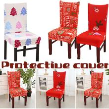 Christmas Decoration Elastic Chair Cover Slipcovers Protector Household Hotel Dining Covers Dust-proof Spandex Stretchable