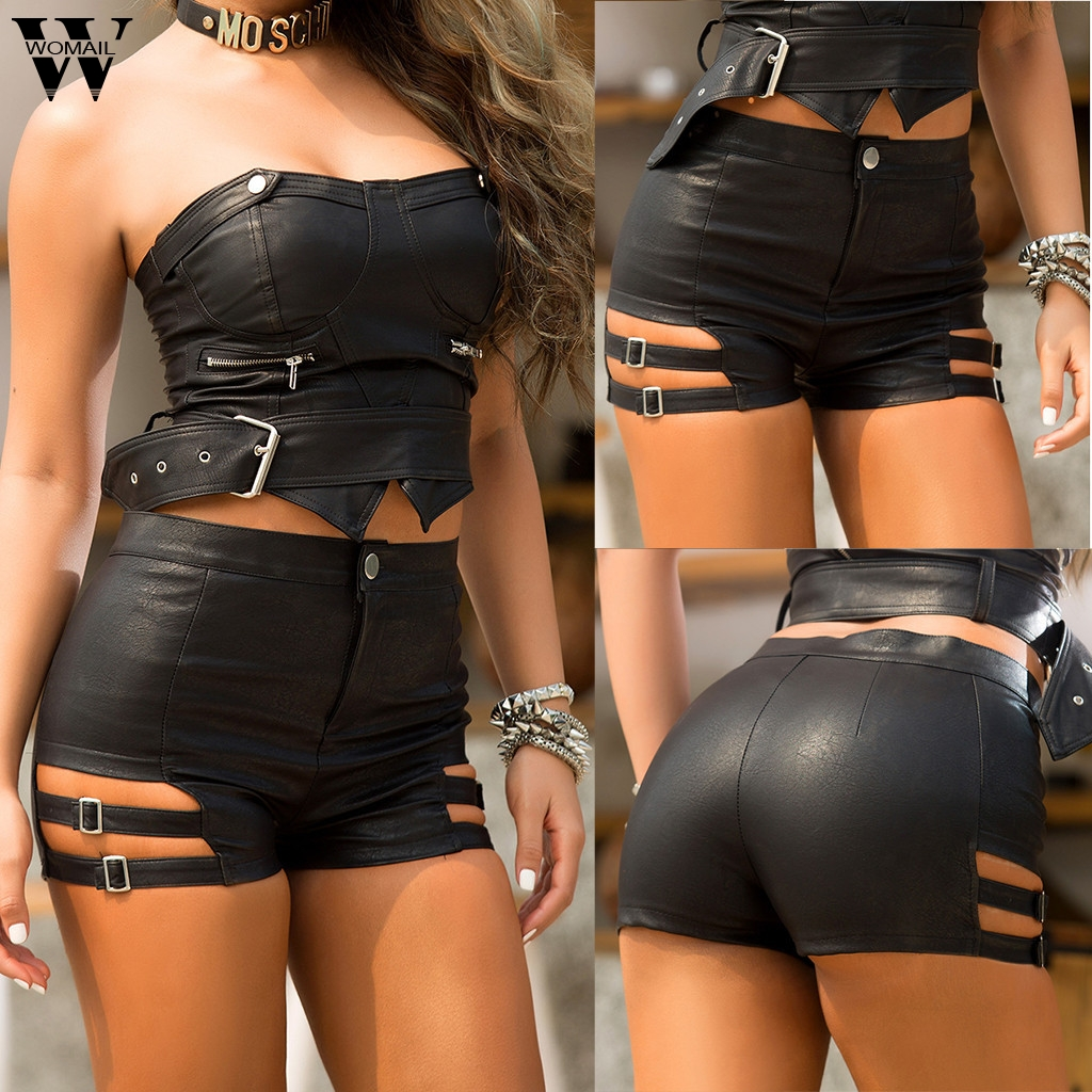 Womail <font><b>short</b></font> Women Summer <font><b>Sexy</b></font> <font><b>Black</b></font> <font><b>Shorts</b></font> For Women 2019 Lady Leather <font><b>Shorts</b></font> Mini <font><b>Shorts</b></font> Slim Hip NEW Casual 2019 M515 image