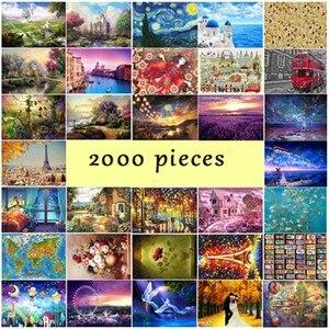 Image 5 - 지그 소 퍼즐 2000 조각 그림 나무 조립 퍼즐 성인을위한 교육 완구 어린이 키즈 홈 인테리어
