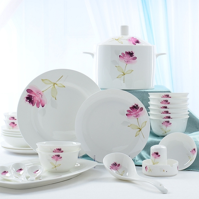 56piece set bone china dishes set wedding favors and gifts dinnerware set  sc 1 st  AliExpress.com : dinnerware storage containers - Pezcame.Com
