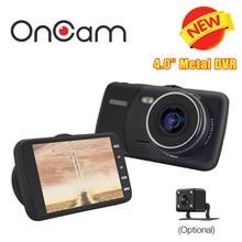 Автомобильный видеорегистратор камеры автомобиля oncam даш камеры t600 автомобилей видеокамера 4.0 »IPS Экран Металлический Каркас Случае Новатэк 96658 AR0330 Двойной Одноместный Cam