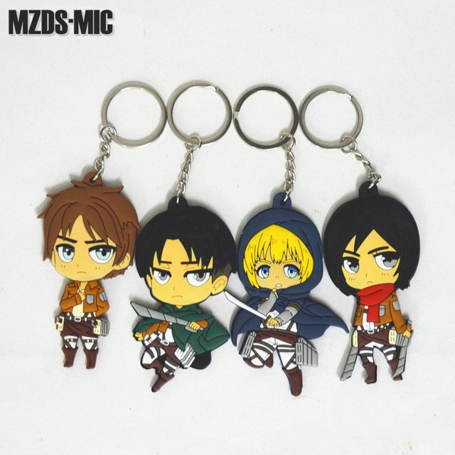 Attack on Titan Anime Action Figures Key-chain