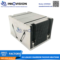 Supermicro narrow cpu cooler radiator SNK P0048PS 2U LGA2011 E5 2600 4600 V2