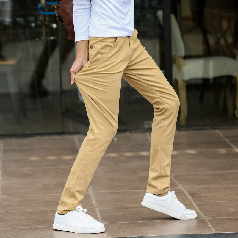 Image 5 - Mens Fashion Stretch Slim Casual Dress Chino Pants Business Trousers Red Black Blue Khaki 28 29 30 31 32 33 34 36 38-in Casual Pants from Men's Clothing
