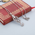 Snake necklace Nagini Lord Voldemort horcrux vintage antique silver pendant jewelry for men and women wholesale c05