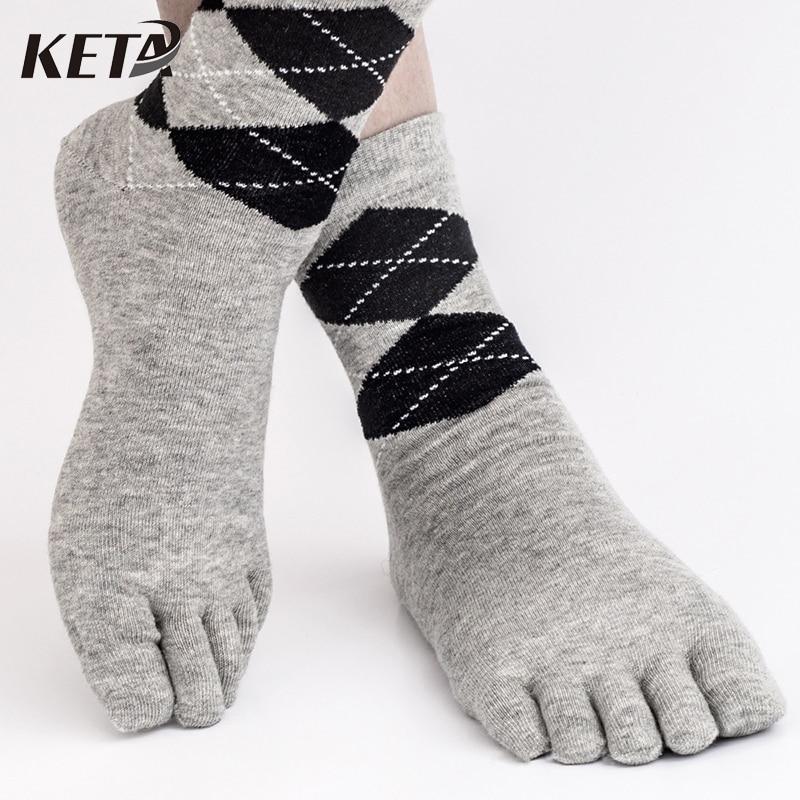 5Pair New Style Cotton Toe Socks Men Casual Crew Dress Business Socks Male Colorful Five Finger Socks Men Brand Man Socks