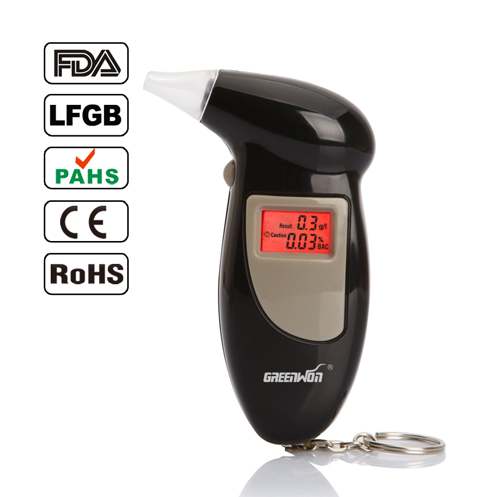 High Accuracy Quick Response LCD Digital Alcohol Tester Key Chain Breathalyzer Breath Analyze Free Shipping