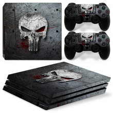 Skull design skin stickers for PS4 Pro console vinyl protective game decals for PS4 pro все цены