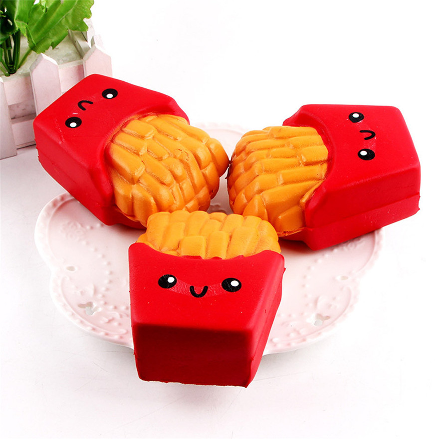 Squishy Toy 12CM French Fries Cream Scented Squeeze 6 Second Slow Rising Toy French fries Decorations MAY 17