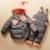 2016 Novo conjunto de roupas de bebê engrossar para baixo casaco de penas criança conjuntos de roupas macacão crianças down & parkas Adequado 1-4 anos