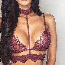 Top Sell Women Sexy Underwear Lace Strap Lingerie Bra Top Lace Condole Strap Tops Black White brandy melville