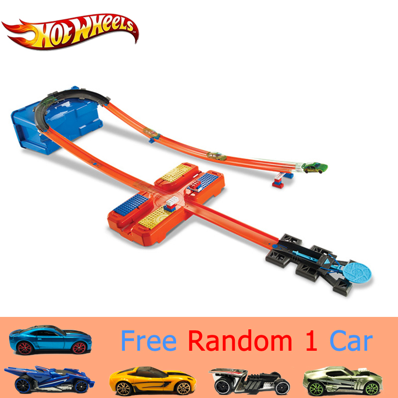 Hot Wheels Auto Track Set Plastic Multifunctionele Opbergdoos Auto Track Speelgoed Hotwheels Track Model DWW95 Voor Kid Gift