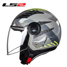 21879e03 Original LS2 OF562 flujo casco abierto de la motocicleta casco jet scooter  media cara cascos de moto vespa verano capacete casco