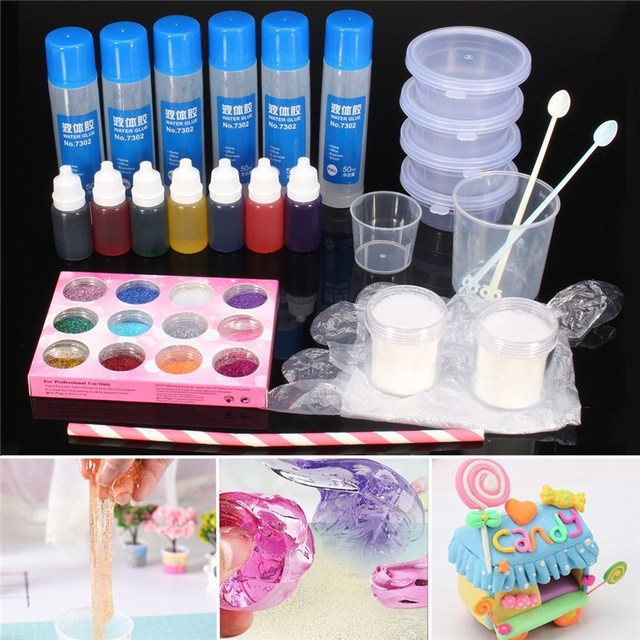DIY Make Slime Playdough Crystal Mud Making Kit For Kids Games Children  Educational Pottery Clay Toy ffedef05a86