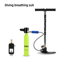 0.5L Diving Equipment Mini Diving Scuba Cylinder Air Tank Valve Respirator Box For Snorkeling Underwater Breathing Accessory