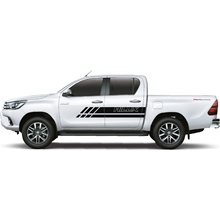 2PC free shipping hilux car sticker gradient body stripe for TOYOTA HILUX revo vigo free shipping vland auto car styling for toyotas vigo taillights 2016 hilux taillamp revo rear lamp led lights