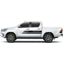 2PC free shipping hilux car sticker gradient body stripe for TOYOTA HILUX revo vigo все цены