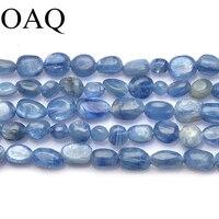 6x8 ملليمتر كريستال الخرز الكيانايت متبلور الحصى عدم انتظام حبات الحجر الطبيعي الخرز للمجوهرات diy كرافت اكسسوارات بالجملة