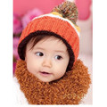 Korean Style Colorful Christmas Hat 2017 New Fashion Warm Baby Caps Autumn Qnd Winter Outfits Warm Cap Children Accessories