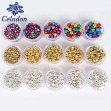 Cloches de Jingle en fer de 6/8/10/12/14mm, perles amples suspendues, ornement d'arbre de noël, décoration de noël, accessoires artisanaux faits à la main
