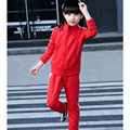 2 pcs kids girls set clothes red black kid girls sport suits set children school clothing pants coats set 2017 new spring autumn