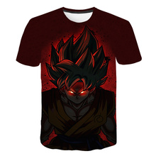 Newest Dragon Ball Z T Shirts Mens Summer Fashion 3D Print Super Saiyajin Son Goku Black Zamasu Vegeta T-shirt Tops