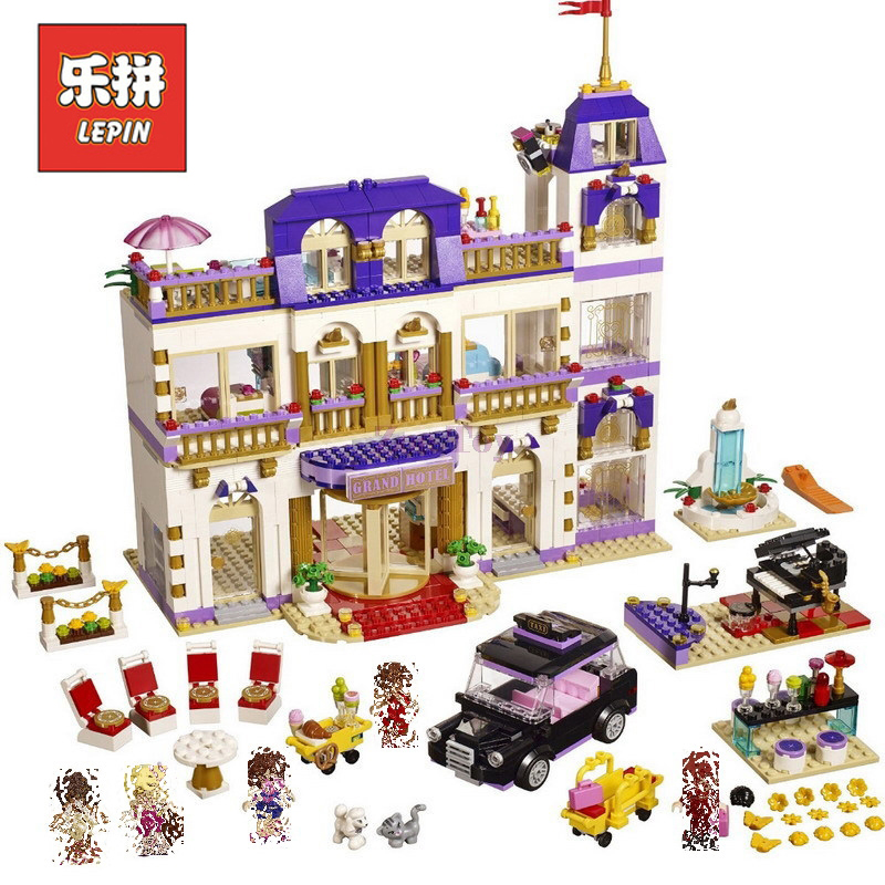 In Stock DHL Lepin Sets Friend Figures 01045 1676Pcs Heartlake Grand Hotel Model Building Kits Blocks Bricks Girl Toy Gift 41101 lepin 01045 1676pcs girls series heartlake grand hotel set children eucational building blocks bricks toys model gift 41101