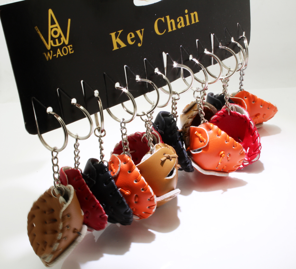 12Pcs Baseball Key Chains Car Key Rings HANDMADE PU Bag Pendant Wedding Sport Team Game Gift Travel Souvenir say hi 70606