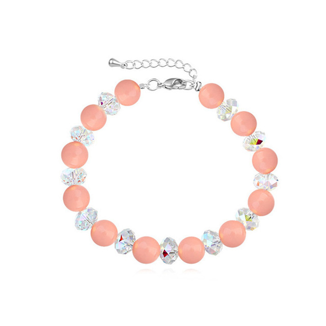 Luxury Noble Woman Pearl Elements Bracelets Crystal from Swarovski Fashion Adjustable Female Hand Accessories Party Jewelry