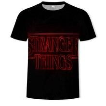 Newest Mens T-Shirt Stranger Things harajuku Streetwear Hip-Hop Two-Worlds shirt men Funny t 3D priting tshirt