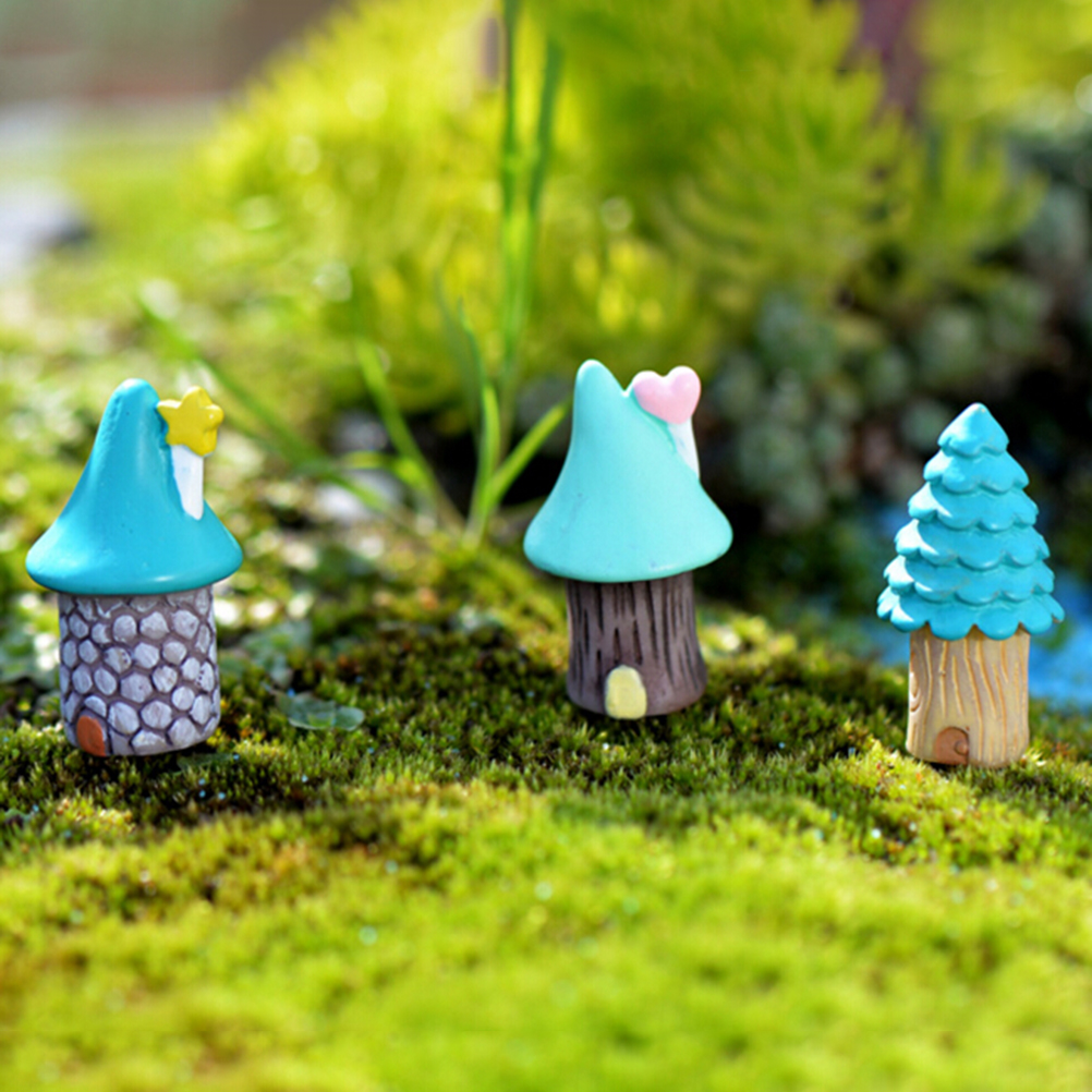 3pcs/set Decorations Fairy Garden Miniatures Decorative Micro Landscape Materials Bonsai Plant Gardening 2.5*2.7cm
