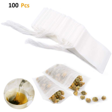 100 pcs Disposable Tea Filter Bag 3.15 X 3.94 inch for 10g Loose Leaf Infuser Safety Environmental Food-Grade Drawstring