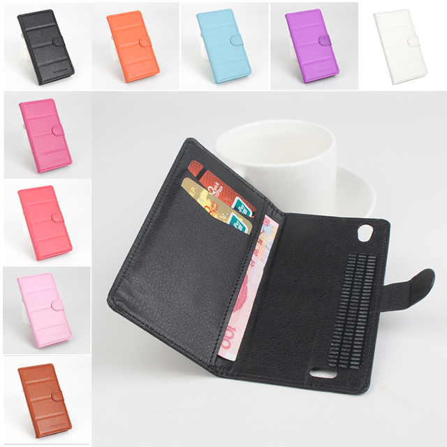 Folio Flip Wallet Case Anti-Slip Leather Cover Phone Shell for Philips  i908