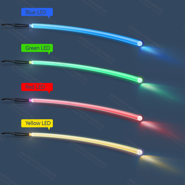 6mm TPU Tpu Waterproof Fabric Case Soft Side Glowing Fiber Optic Light Cable For Stairs Stage Lighting Decoration