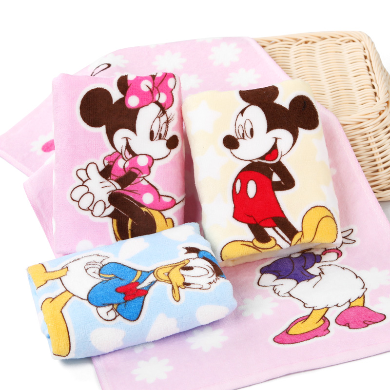 Disney Cotton Newborn Baby Soft Towels Infant Cartoon Face Hand Bathing Towel Bibs 25*50cm Baby Care Feeding Towels