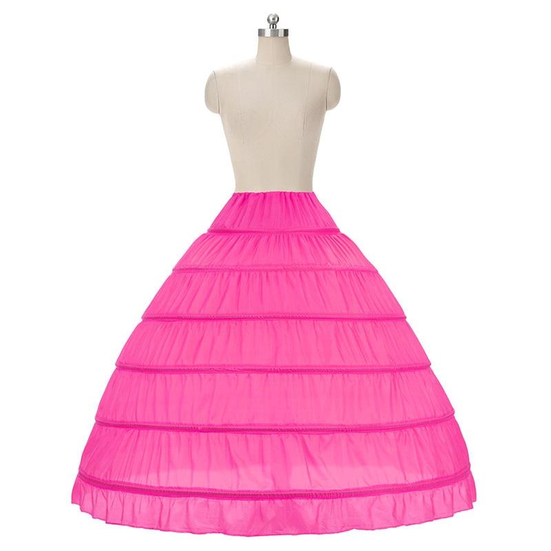 Fustanet e nuseve Ball Fustan Petticoat White 6 Hoops Underskirt - Aksesorë dasme - Foto 5