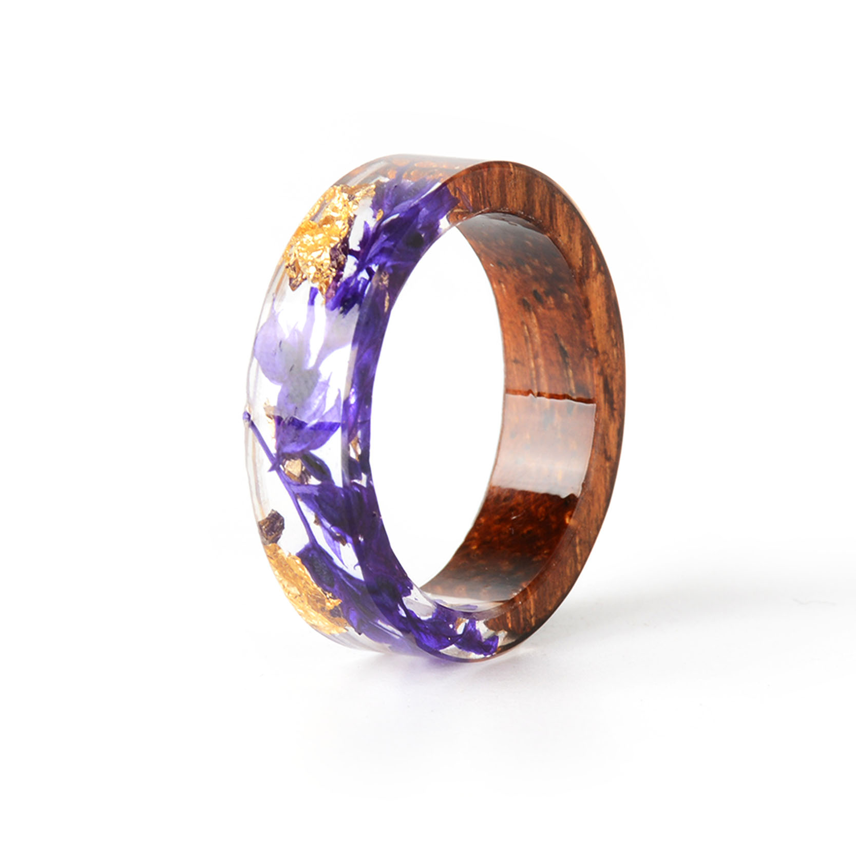 HTB1updDB5CYBuNkSnaVq6AMsVXaJ - Hot Sale Handmade Wood Resin Ring Dried Flowers Plants Inside Jewelry Resin Ring Transparent Anniversary Ring for Women