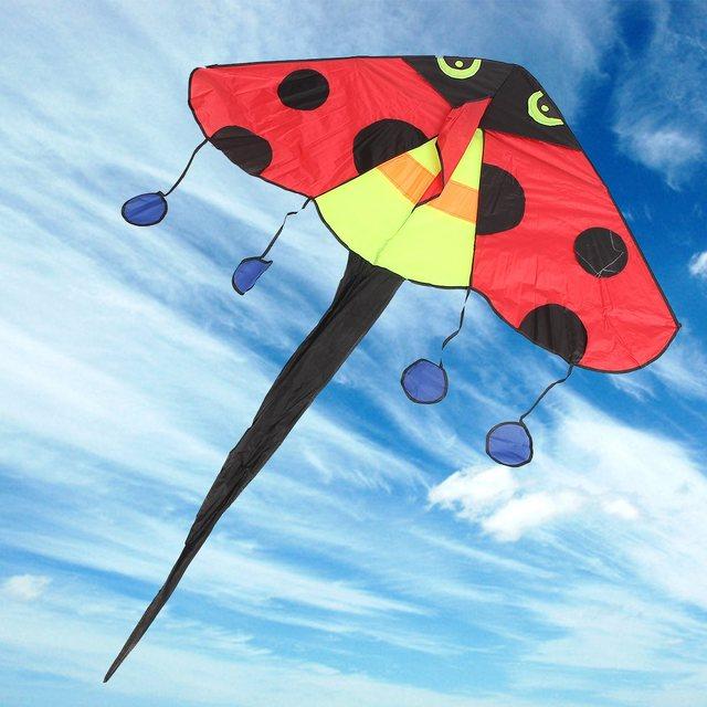 2 Unidades/pacote Delta Kites Linha Rainbow Joaninha Crianças Presentes Brinquedos Engraçados Dos Esportes Ao Ar Livre