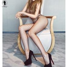 2017 sexy lace pescoço fishnet body stocking sexy lingerie nets sexo trajes malha fishnet abrir crotch bodystocking plus size st130