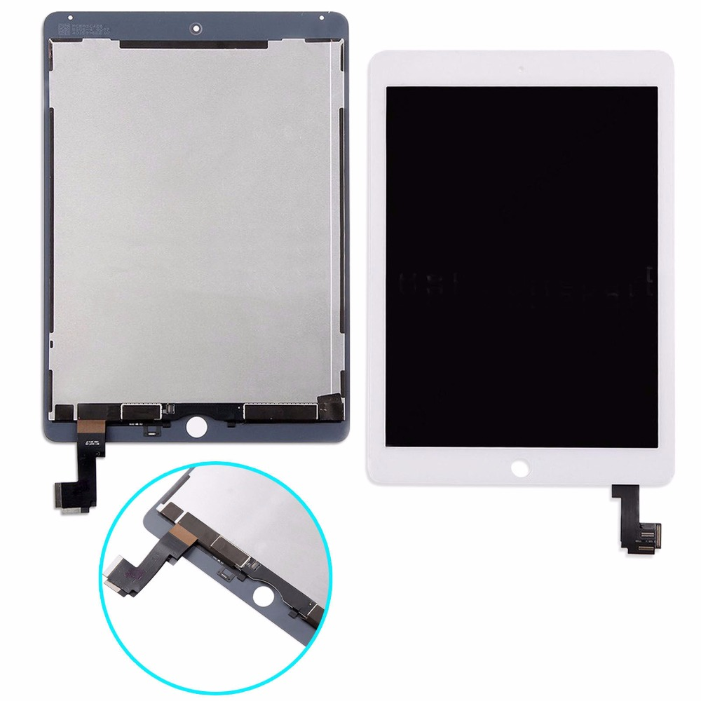 New For iPad Air 2 2nd Gen A1567 A1566 LCD Touch Screen Digitizer Display Assembly For iPad 6 Tablet Replacement Panel Free Ship replacement lcd display panel screen for ipad