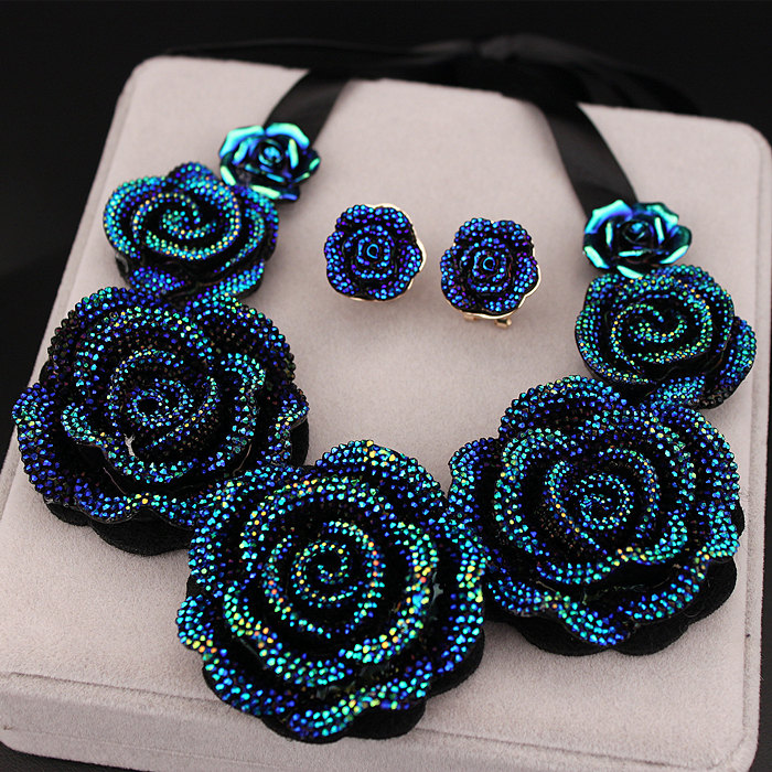 New Arrival High Quality Fashion Necklaces Big Blue Resin ...