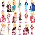 10 Sets Outfit Unique Design Different Style Handmade Doll Dresses Clothing Suit Coat Pants Accessories For Kurhn Barbie Doll