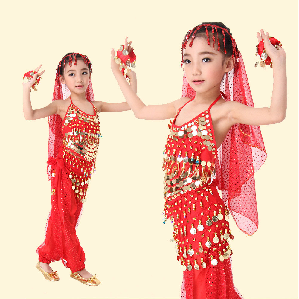 e651fe6ec Best Price 5 PCS SETS Children Belly Dance Costume for Competition ...